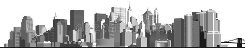 Panorama da cidade grande imagem de stock