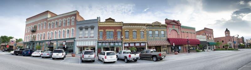 Panorama da cidade pequena imagens de stock royalty free