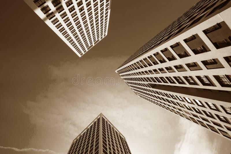 Panorama da construção em um fundo branco fotos de stock royalty free