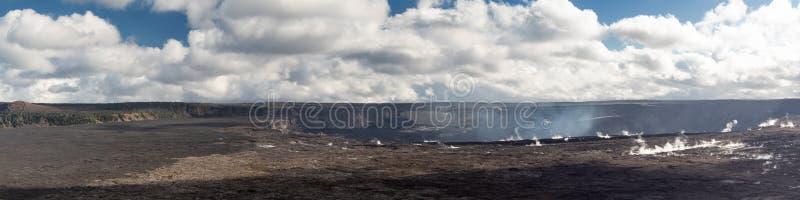 Panorama da cratera de Kilauea Iki fotos de stock