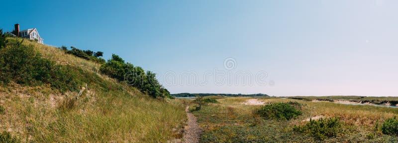 Panorama da duna de Cape Cod foto de stock