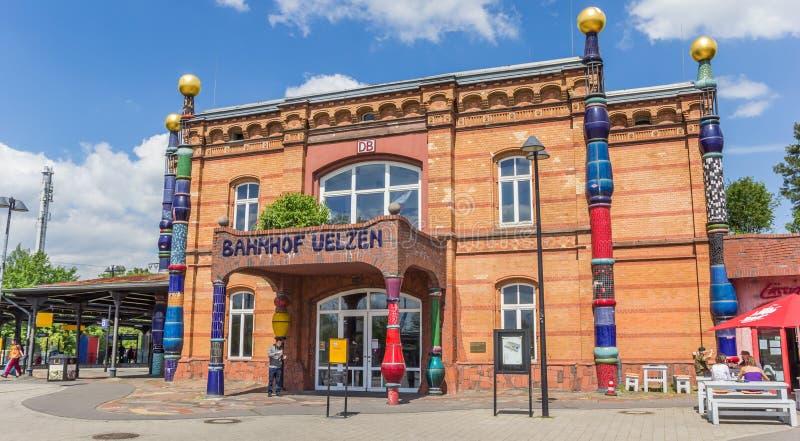 Panorama da estação de trem de Uelzen fotos de stock royalty free