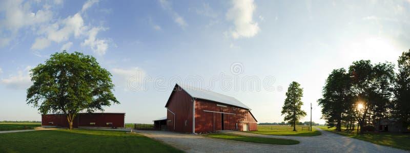 Panorama da exploração agrícola foto de stock royalty free