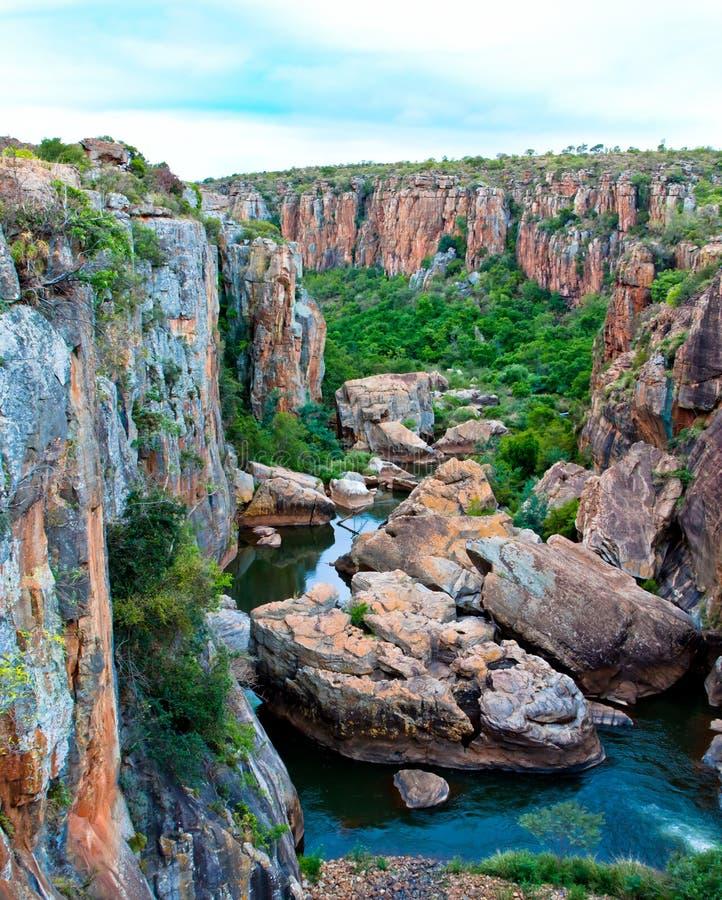 Panorama da garganta do rio de Blyde imagem de stock