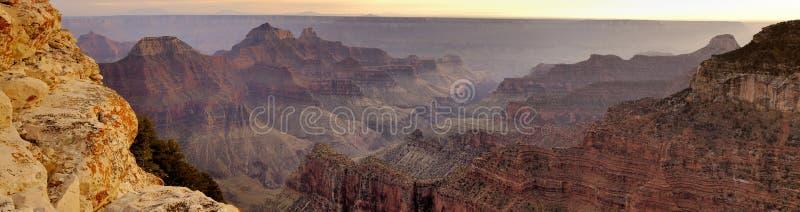 Panorama da garganta grande do ponto de vista brilhante do anjo imagens de stock royalty free