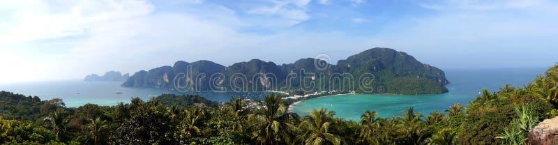 Panorama da ilha da Phi-phi, província de Krabi fotos de stock