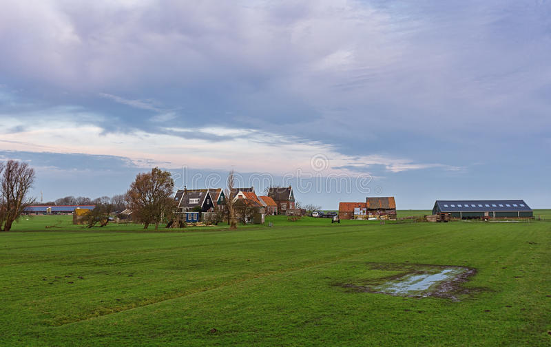 Panorama da ilha de Marken foto de stock