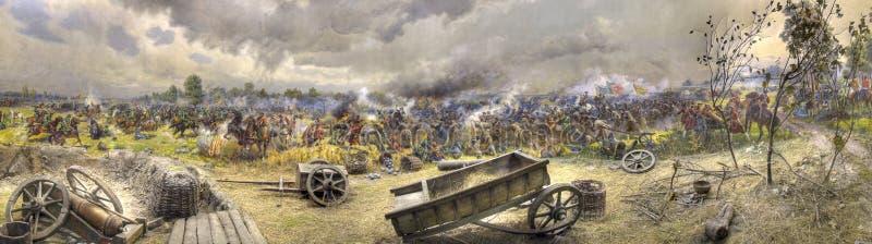Panorama da luta de Poltava fotografia de stock