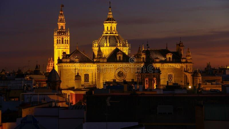 Panorama da opinião Catedral de Sevilla Cathedral de Sevilla Spain, Sevilha fotografia de stock royalty free