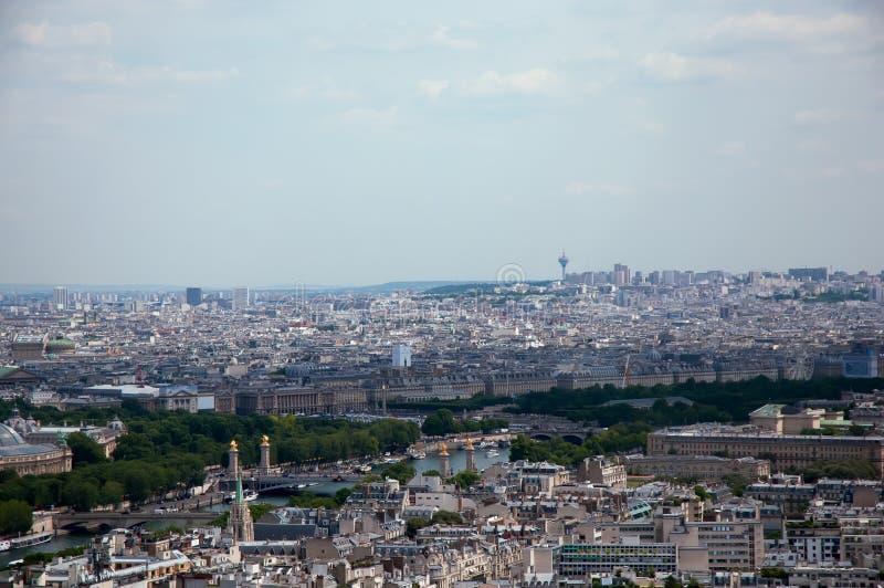 Panorama da opinião de Paris do Seine foto de stock royalty free