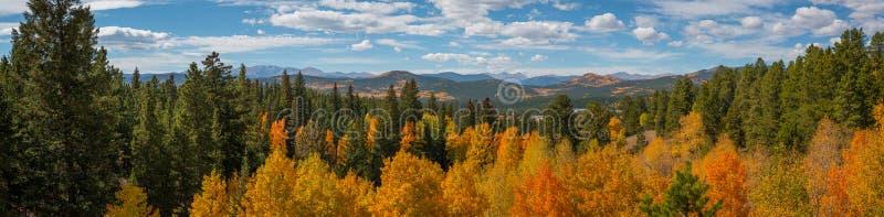 Panorama da paisagem de Colorado no outono imagem de stock royalty free