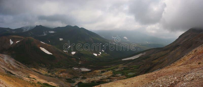 Panorama da paisagem de Kamchatka (Rússia) foto de stock royalty free