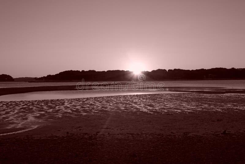Panorama da paisagem do por do sol foto de stock royalty free