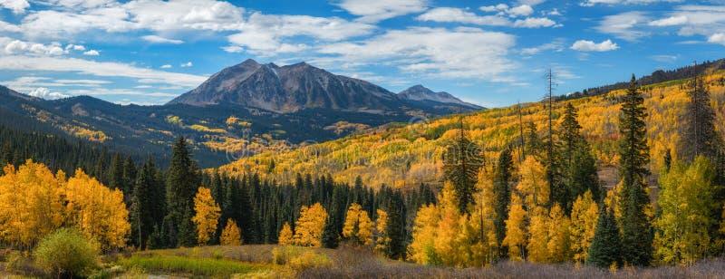 Panorama da passagem de Kebler no outono imagem de stock royalty free