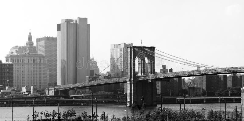 Panorama da ponte de Brooklyn NYC imagem de stock royalty free