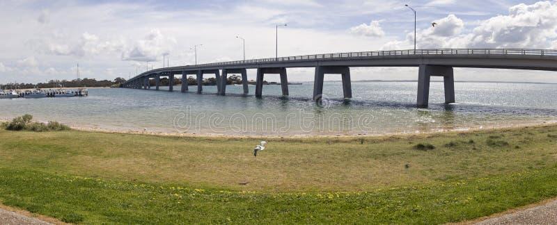 Panorama da ponte que conduz ao console de Phillip imagens de stock royalty free