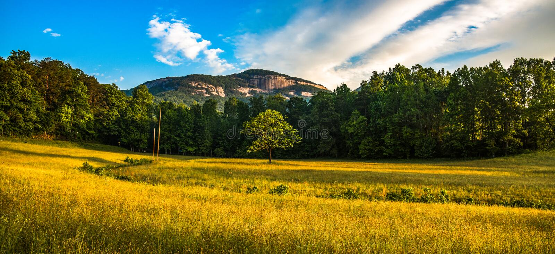 Panorama da rocha da tabela perto do SC de Greenville South Carolina fotografia de stock royalty free