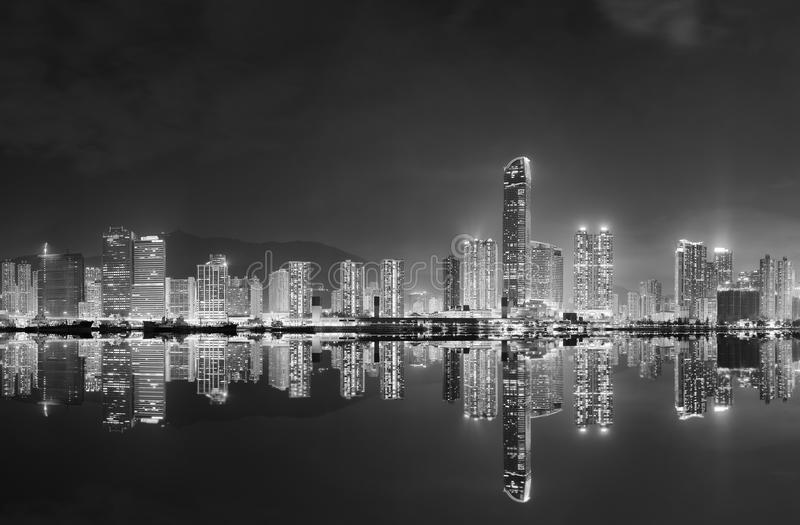 Panorama da skyline da cidade de Hong Kong imagem de stock royalty free