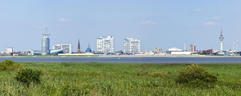 Panorama da skyline de Bremerhaven imagem de stock royalty free