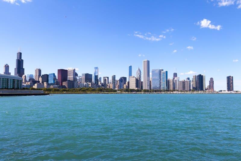 Panorama da skyline de Chicago fotos de stock