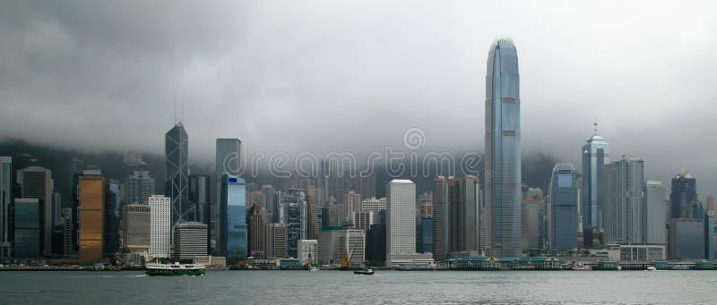 Panorama da skyline de Hong Kong foto de stock royalty free