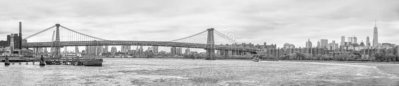 Panorama da skyline de Manhattan imagens de stock