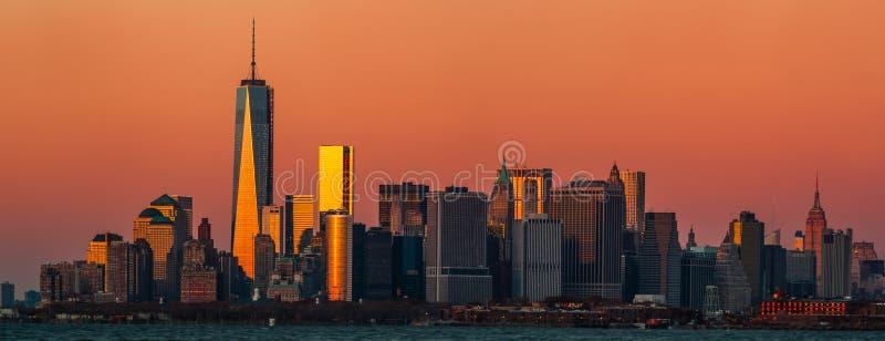 Panorama da skyline de Manhattan fotos de stock royalty free