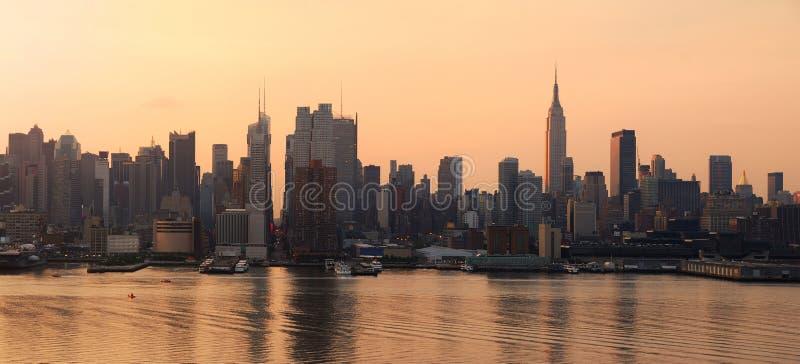 Panorama da skyline de Manhattan em New York City imagens de stock royalty free