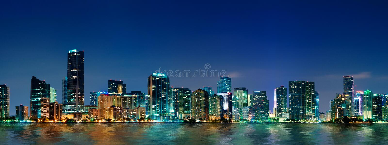 Panorama da skyline de Miami fotos de stock royalty free