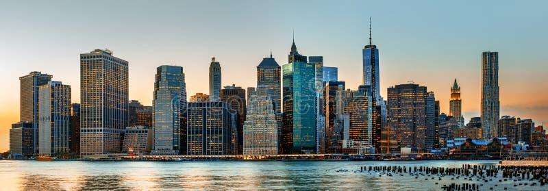 Panorama da skyline de New York City fotografia de stock royalty free