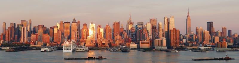 Panorama da skyline de New York City Manhattan fotografia de stock royalty free