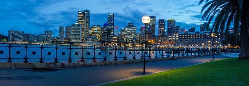 Panorama da skyline de Sydney imagens de stock