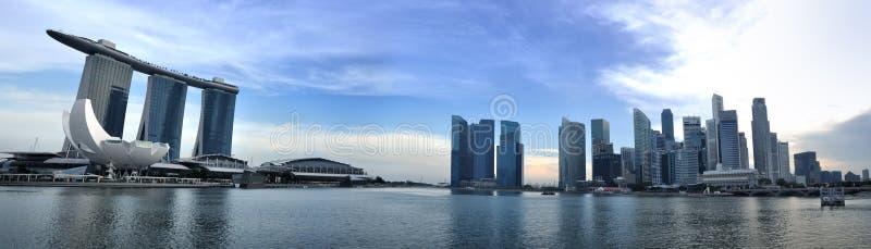 Panorama Da Skyline E Do Rio De Singapore Imagem de Stock Editorial