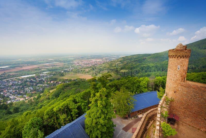 Panorama da torre do castelo de Auerbach, Alemanha fotos de stock royalty free