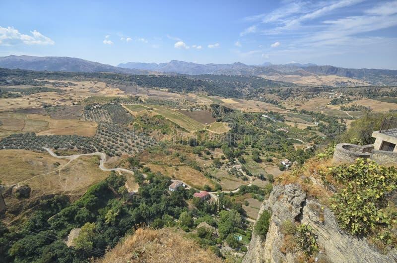 Panorama dal terrazzo di Ronda immagine stock