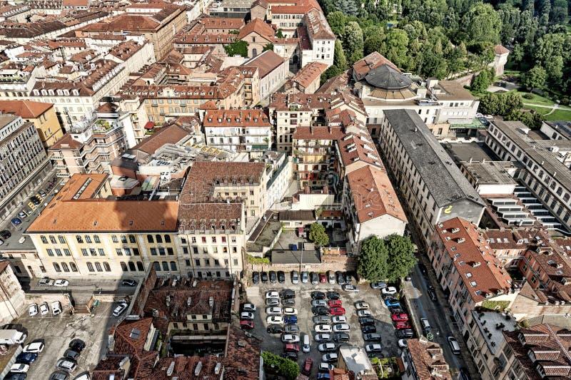 Panorama dalla talpa Antonelliana, Torino, Italia immagini stock