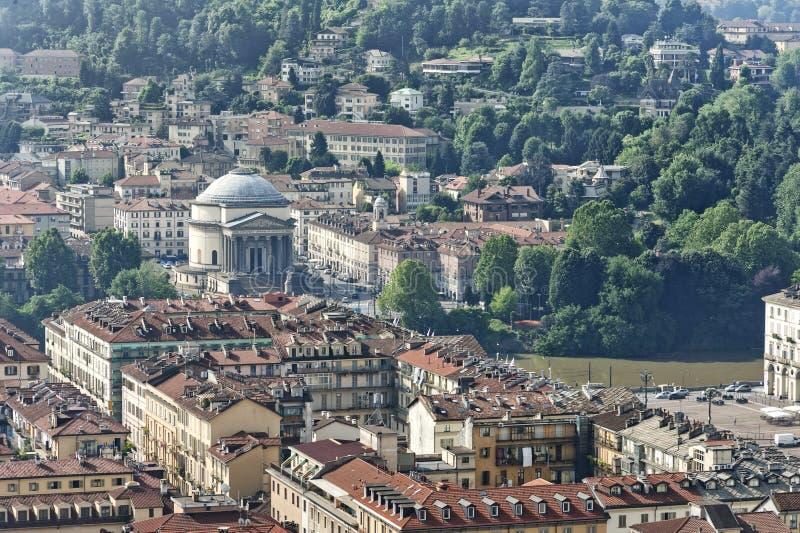 Panorama dalla talpa Antonelliana, Torino, Italia immagine stock