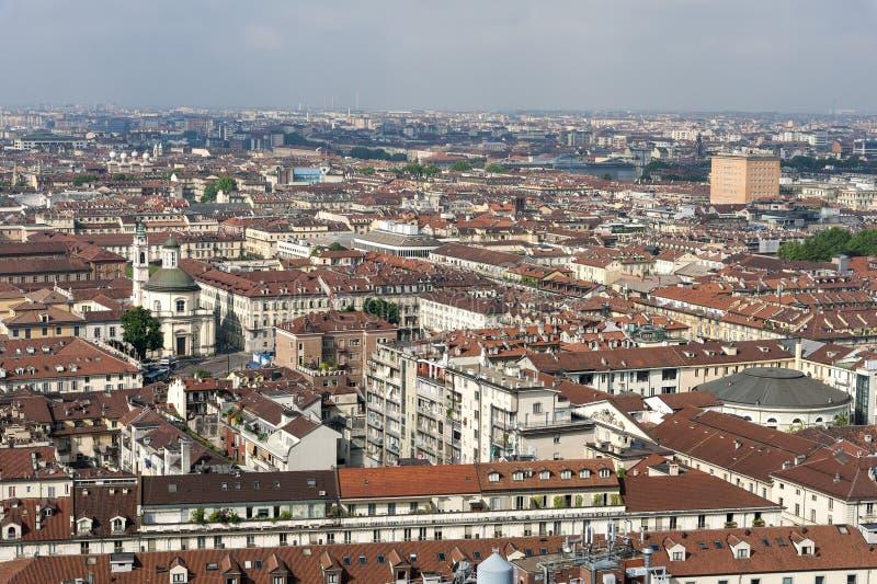 Panorama dalla talpa Antonelliana, Torino, Italia fotografia stock