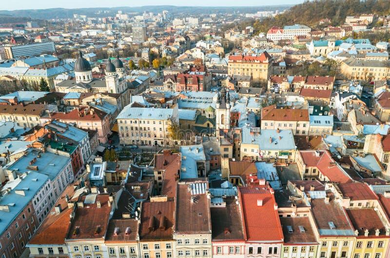 Panorama dalla torre fotografia stock