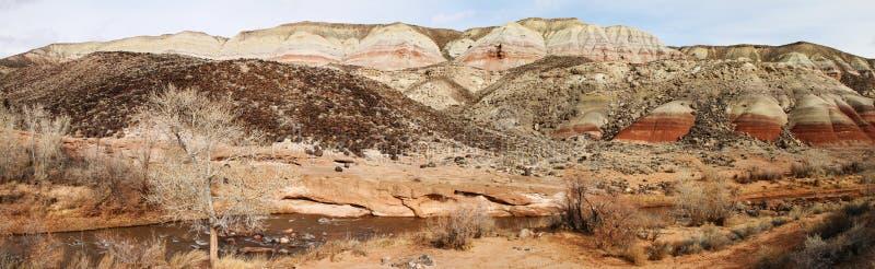 Panorama das formações de rocha vermelhas imagem de stock