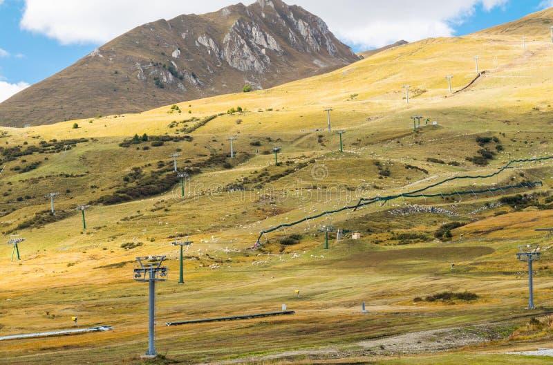 Panorama das montanhas de Trentino fotos de stock royalty free