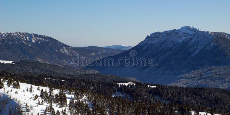 Panorama das montanhas no inverno foto de stock royalty free