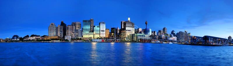 Panorama, das Sydney City glättet stockfotografie
