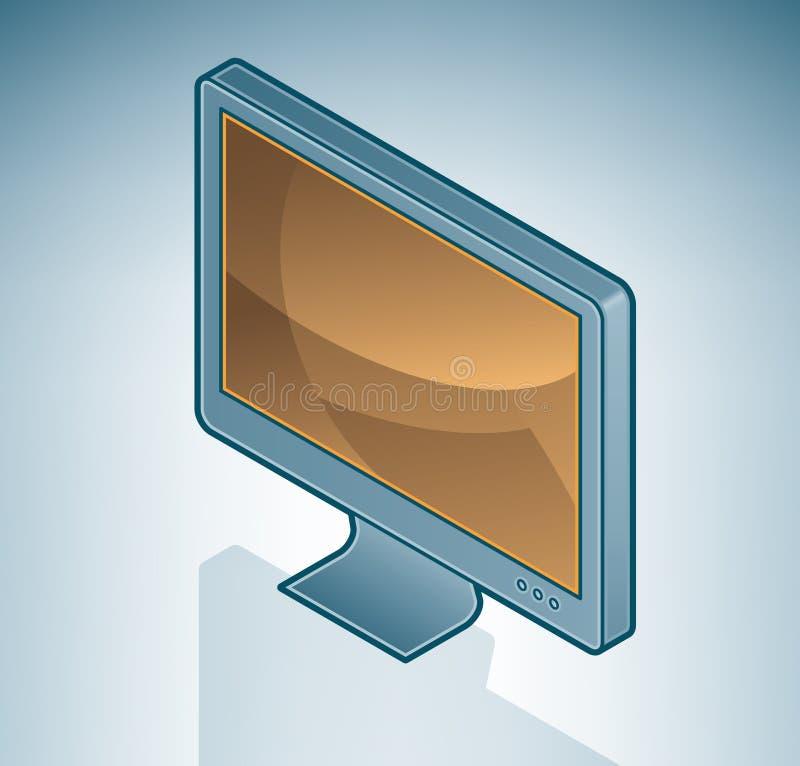 panorama- datorskärm lcd vektor illustrationer