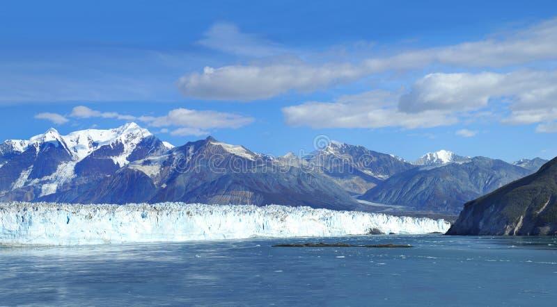 Panorama of Dawes Glacier in Alaska royalty free stock images