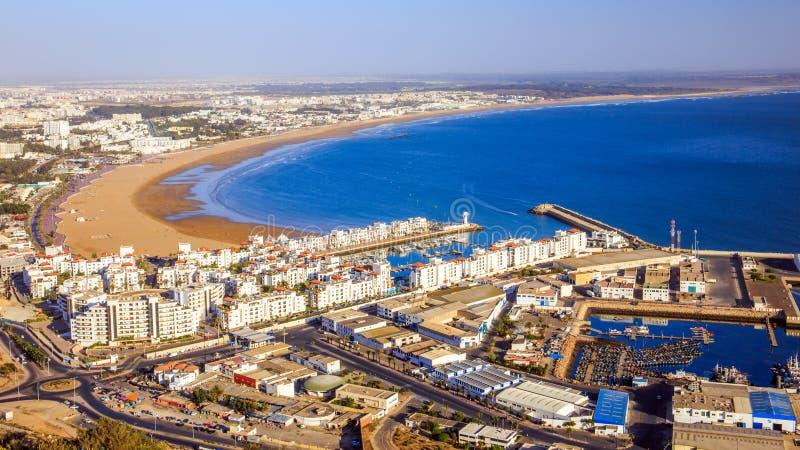 Panorama de Agadir, Marrocos fotografia de stock