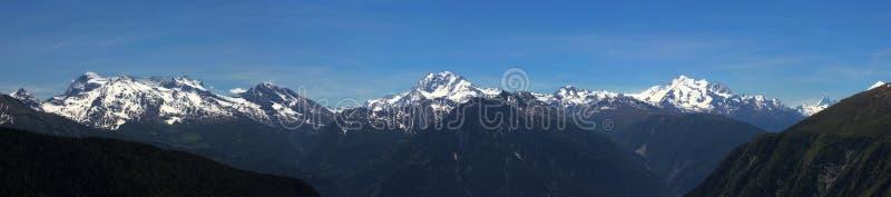 Panorama de Aletsch (Suiza) imagen de archivo libre de regalías