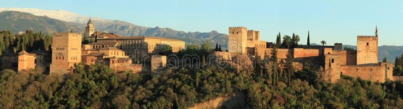 Panorama de Alhambra imagens de stock royalty free