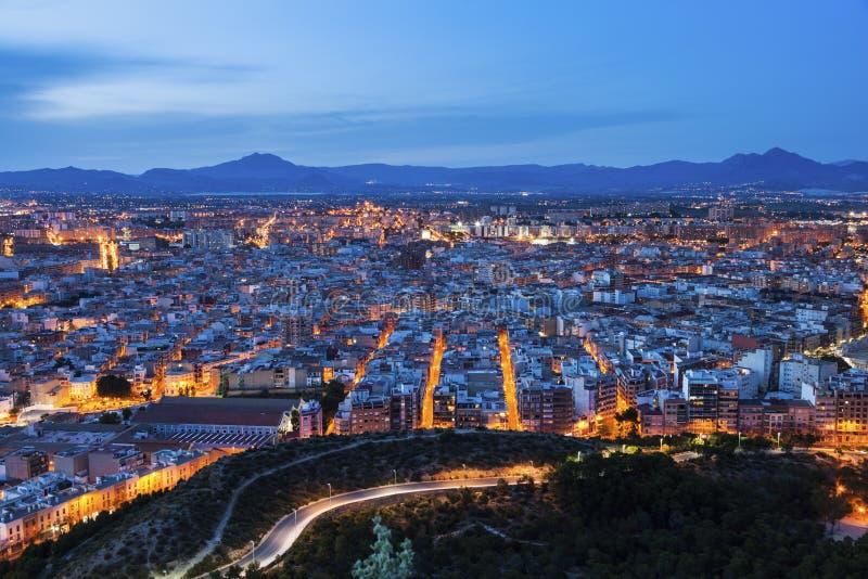 Panorama de Alicante imagenes de archivo