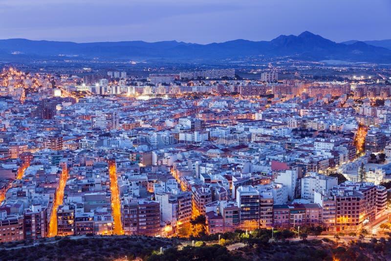 Panorama de Alicante imágenes de archivo libres de regalías